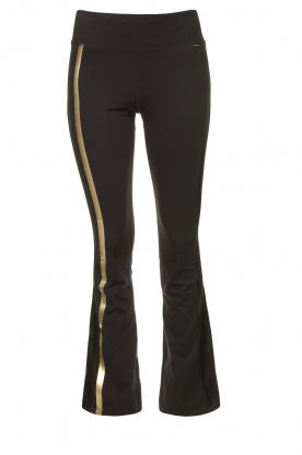 Goldbergh |  Flared sport sweatpants Zefira | black