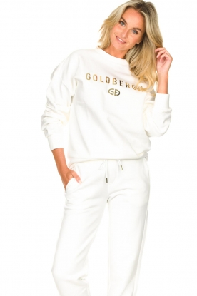 Goldbergh |  Luxurious logo sweater Flavy | white