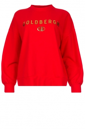 Goldbergh | Luxurious logo sweater Flavy | red