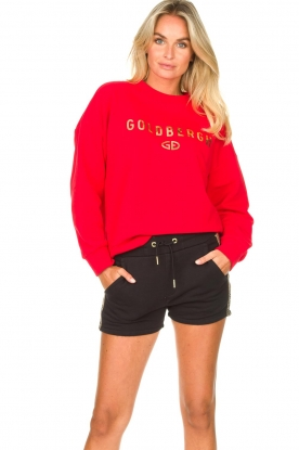 Goldbergh |  Luxurious logo sweater Flavy | red