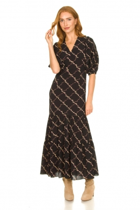 Second Female |  Floral maxi dress Solo | black