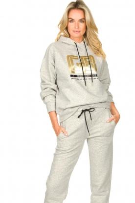 Goldbergh |  Luxurious logo sweater Fiza | grey