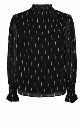 Sofie Schnoor | Lightning print blouse Miley | black