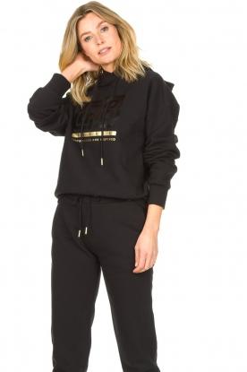 Goldbergh | Luxe logo sweater Fiza | zwart