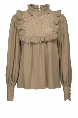 Sofie Schnoor |Broderie blouse Lala | camel