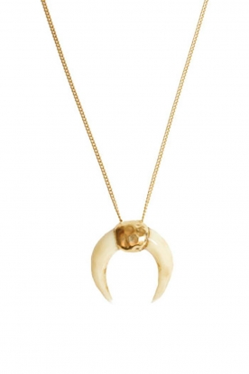 Mimi et Toi | 18k gold plated necklace Lune Miracle blanche | gold
