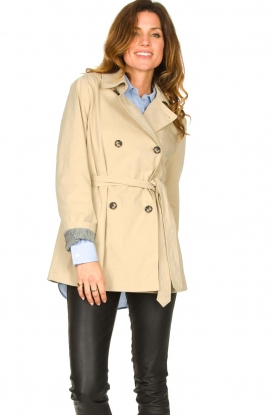 Set |  Short trench coat Chrissy | beige