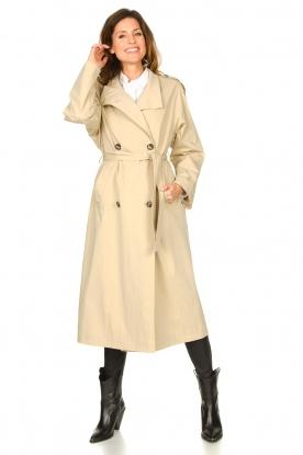 Set |  Cotton oversized trench coat Cis | beige