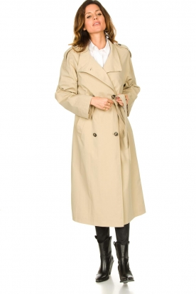 Look Cotton oversized trench coat Cis