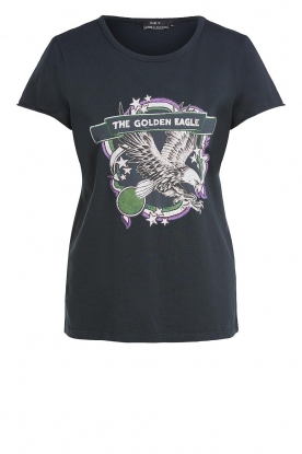 Set |  T-shirt with print Eagle | black