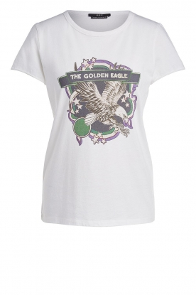 Set |T-shirt met print Eagle | wit