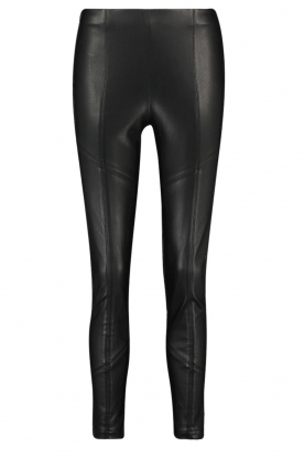Aaiko | Faux leather leggings Peach | black