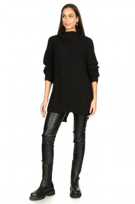 Aaiko |  Faux leather legging | black