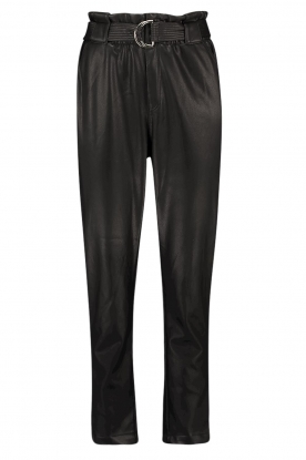 Aaiko | Faux leather pants Pamalla | black