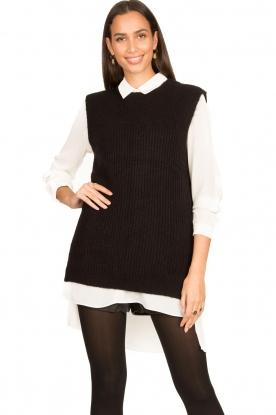 Aaiko    Knitted spencer Mava   black