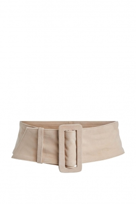 Set |  Leather waist belt Nova | natural