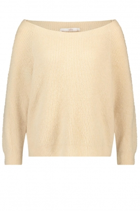 Aaiko | Boat neck sweater Michelle | natural