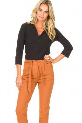 D-ETOILES CASIOPE |  Travelwear body blouse Anna | black