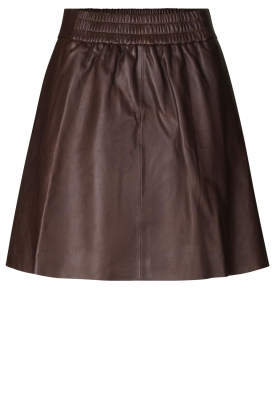 Second Female | Lamb leather skirt Melvin | brown