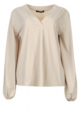 D-ETOILES CASIOPE |  Travelwear top with puff sleeve Arudy | natural