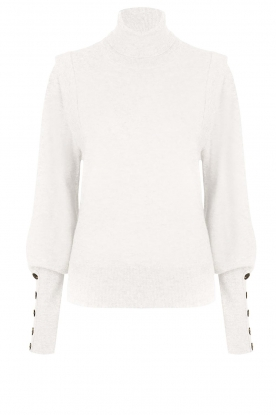 Dante 6 |  Turtleneck with buttons Quentin | white