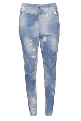 D-ETOILES CASIOPE | Travelwear printed pants Alba | blue