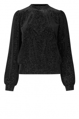 Second Female | Sweater with lurex Nancy | black