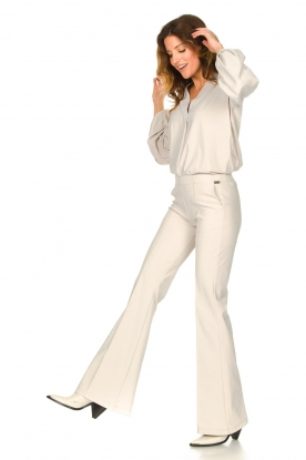D-ETOILES CASIOPE |  Travelwear flared pants Rodez | natural