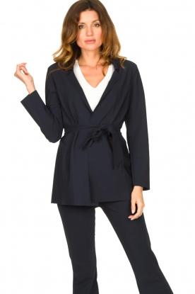 D-ETOILES CASIOPE |  Travelwear blazer with belt Anais | blue