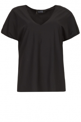 D-ETOILES CASIOPE | Travelwear T-shirt with v-neck Alizée | black