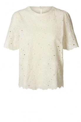 Lolly's Laundry | Broderie top Cristina | white
