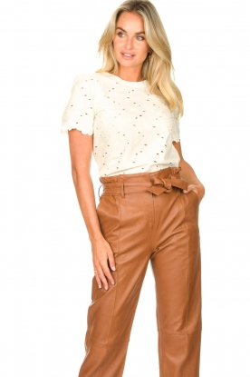 Lolly's Laundry    Broderie top Cristina   white