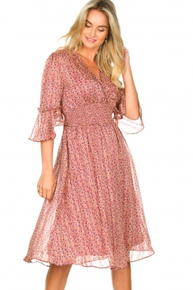 Lolly's Laundry |  Midi dress with ruffles Patricia | pink