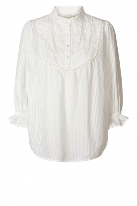 Lolly's Laundry |  Blouse with ruffles Huxi | white