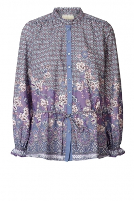 Lolly's Laundry | Blouse with drawstring Sophie | purple