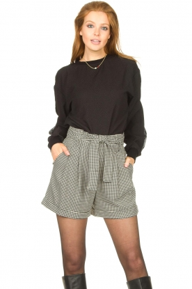Freebird |  Sweater with dotted print Ruth | black
