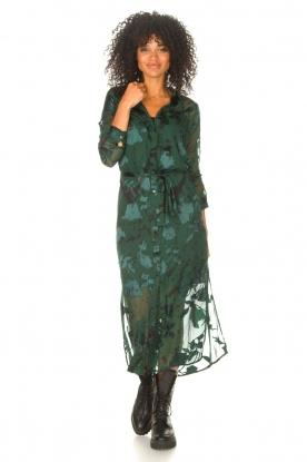 Look Maxi dress with leaf print Harper