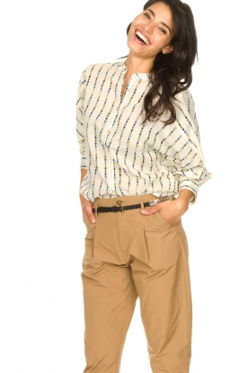 Lolly's Laundry |  Cotton blouse with checked pattern Ralf | multi