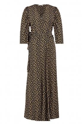 Freebird |  Maxi dress with print Esmee | black