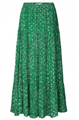 Lolly's Laundry | Maxi skirt with lurex Bonny | green