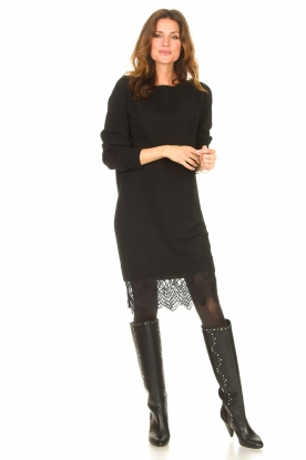 Look Sweater dress with lace Ilsa
