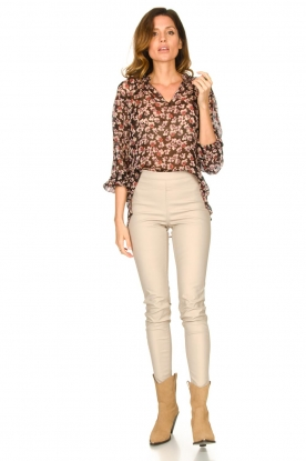Knit-ted |  Faux leather legging Amber | natural