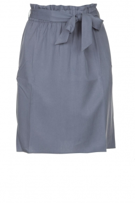 Knit-ted | Skirt with matching tie belt | blue