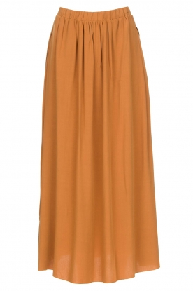 Knit-ted | Maxi skirt with pockets Rosita | brown
