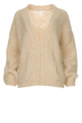 Knit-ted | Knitted cardigan Bernelle | brown
