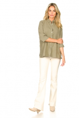 Look Linen blouse Nathalie