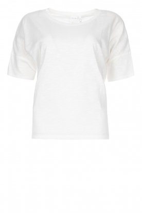 Knit-ted |  Cotton T-shirt Janneke | white