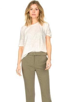 Knit-ted |  Cotton T-shirt Janneke | white