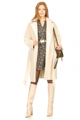 Toral |  Leather knee boots Sophia | natural