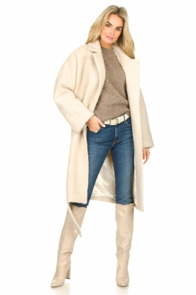 Toral |  Leather knee boots Sofia | natural